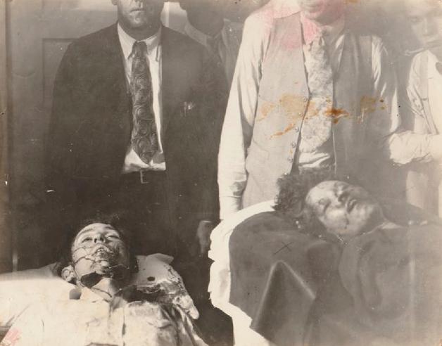 Bonnie e Clyde mortos