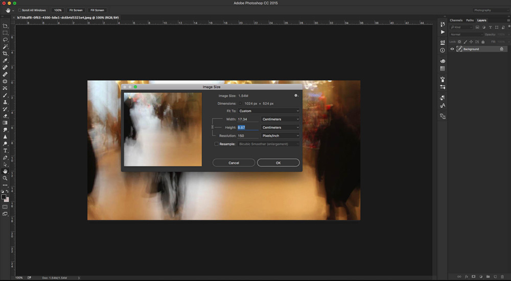 Imagens pequenas podem virar quadros gigantes; A 150 DPI's, essa imagem resultaria em um quadro de aproximadamente 17 x 9 cm