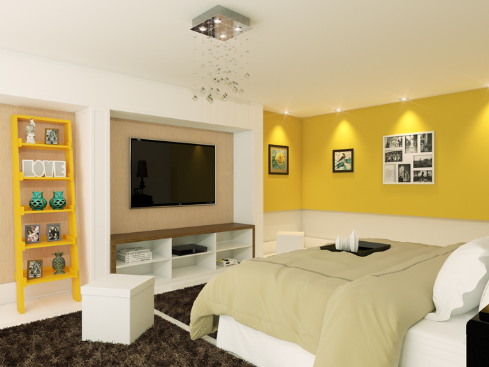 quarto de casal amarelo
