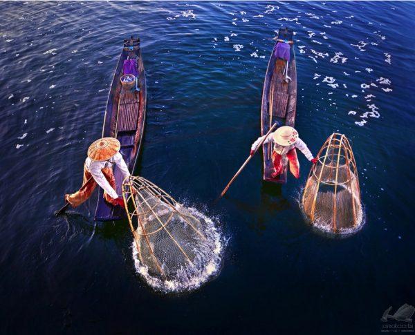 Fisherman around Inle - Weerapong Chaipuck