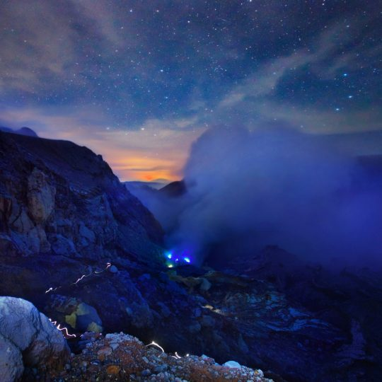 Kawah Ijen before Sunrise - Weerapong Chaipuck
