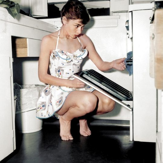 Audrey Hepburn Cooking