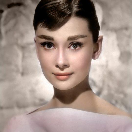 Audrey Hepburn in Pink