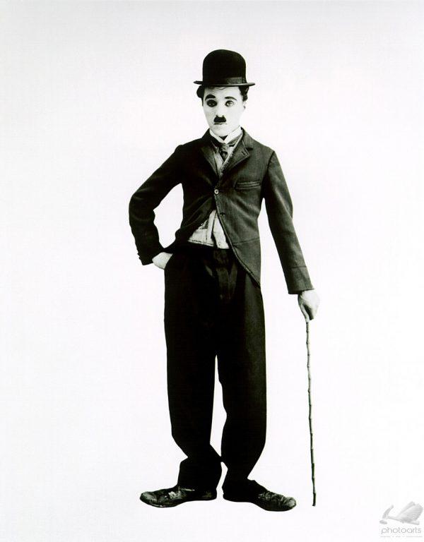 Chaplin em Fundo Branco