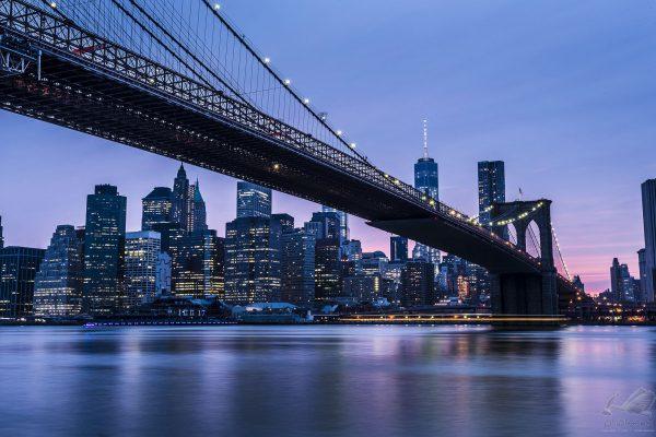 Entardecer na ponte do Brooklyn - Alê Rodrigues