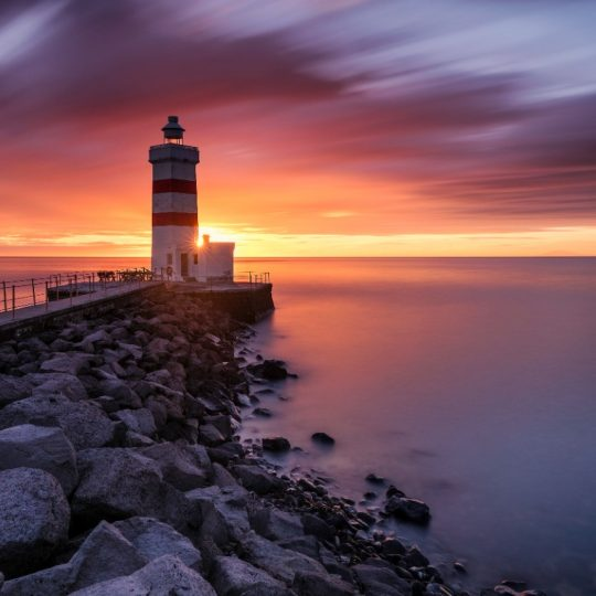 Gardur Lighthouse Sunset Iceland - Andreas Kunz