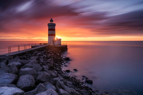 Gardur Lighthouse Sunset Iceland - Andreas Kunz
