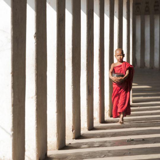 Novice Monk In Walkway - Andreas Kunz