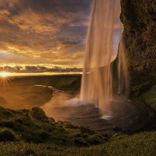 Seljalandsfoss sunset iceland - Andreas Kunz
