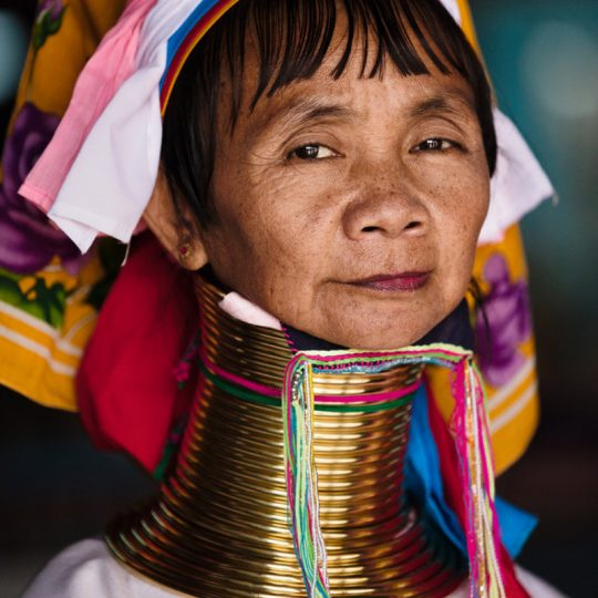 Tribal Padaung Long Neck Woman Portrait - Andreas Kunz