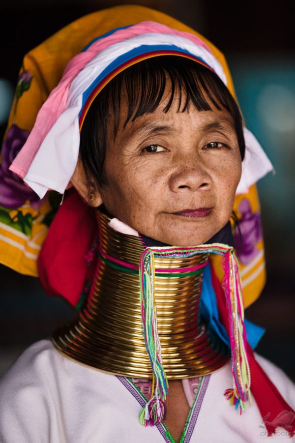 Tribal Padaung Long Neck Woman Portrait - Andreas Kunz