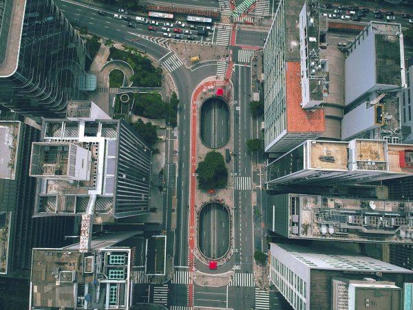 Vista aérea da Praça do Ciclista II - Gabriel Ramos