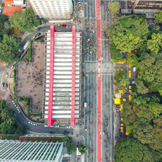 Vista aérea do MASP e do Parque Trianon - Sérgio Souza