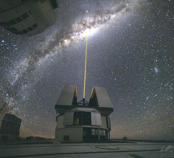 Laser no Centro da Via Láctea